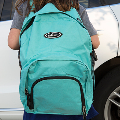 EVEREST<sup>&reg;</sup> Sporty Backpack - This durable backpack has an internal organizer, multiple pockets, two-way zippers to ensure secure storage and air mesh shoulder straps.  Measures 13