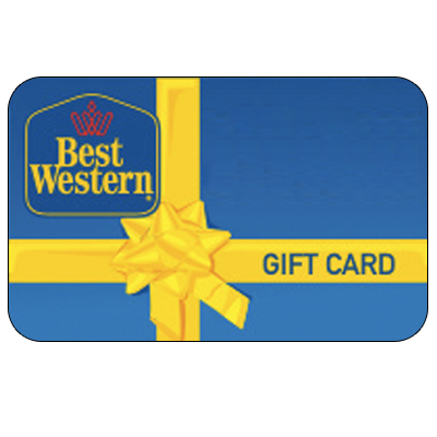 BEST WESTERN<sup>®</sup> $100 Gift Card - Whether you're off to the beach, visiting family, or looking for some adventure, this $100 gift card can be used at any of the more than 4,200 Best Western hotels worldwide.