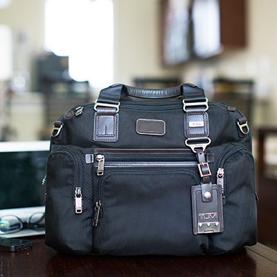 TUMI<sup>®</sup> Alpha Bravo™ Brooks Slim Brief Bag - A well organized bag for all of your day to day needs, whether working or traveling.  Bag measures  11