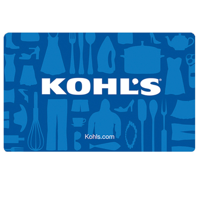 KOHL'S<sup>®</sup> $25 Gift Card - Kohl's department stores are stocked with everything you need for yourself and your home.  Shop for the best merchandise at the best prices.